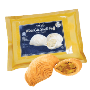 Mak'Cik Shell Curry Puff - Curry Potato 250gm-min
