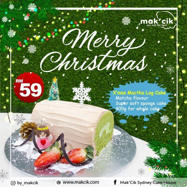 Xmas Cake Matcha Log Cake Leaflet